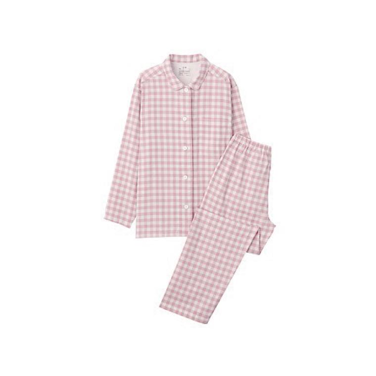 写真:無印良品 脇に縫い目のない 二重ガーゼパジャマ
